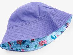 Hatley dekliški klobuček z morsko deklico in UV zaščito, vijolična/modra, 62/68