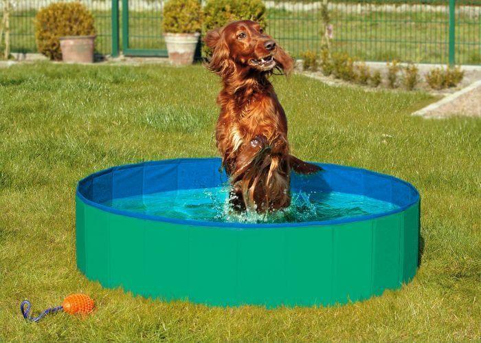 Karlie Skládací bazén pro psy zeleno-modrý 80x20 cm