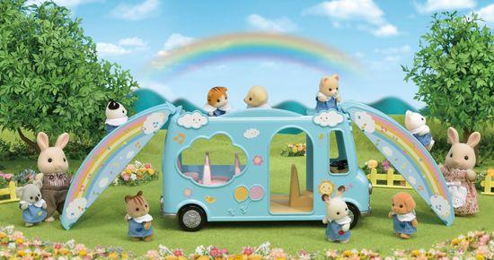 Sylvanian Families tęczowy autobus szkolny