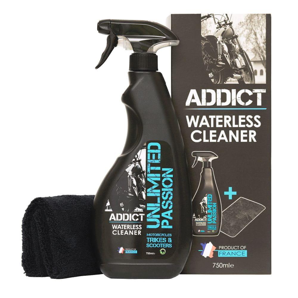 UNPASS ADDICT čistící a leštící přípravek v rozprašovači 750 ml + utěrka z mikrovlákna - čistí bez použití vody