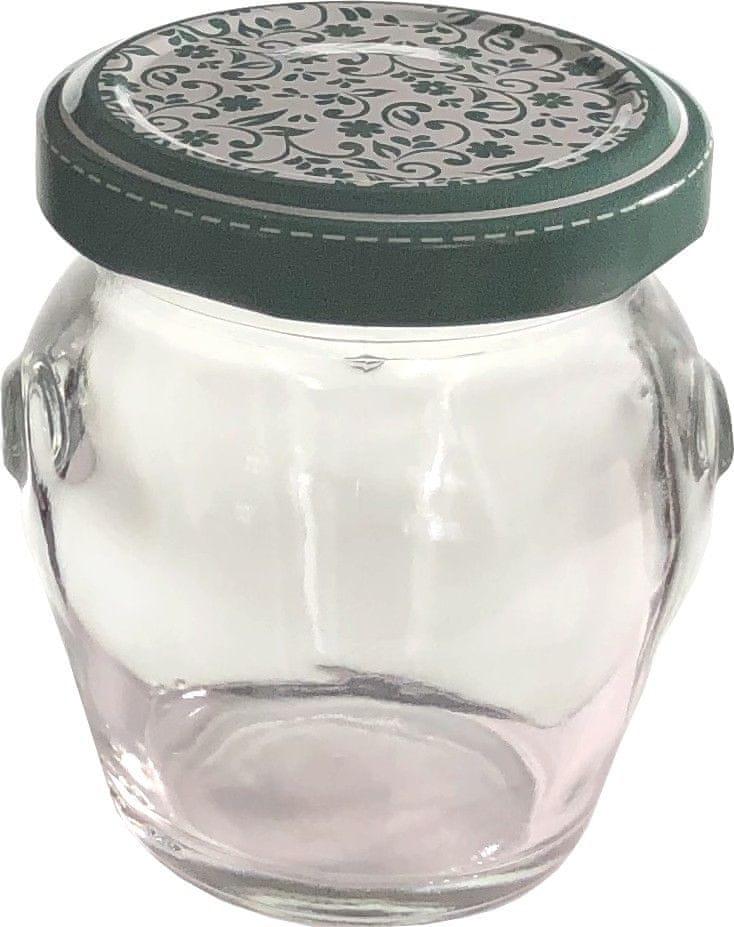 Marex Trade Zavařovací sklenice TWIST amfora s víčkem, 8 x 106 ml