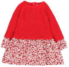 Boboli dívčí šaty 98 červená