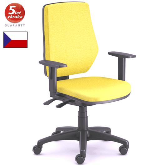 emagra Kancelářská židle LEX 229/B - černý plast - žlutá