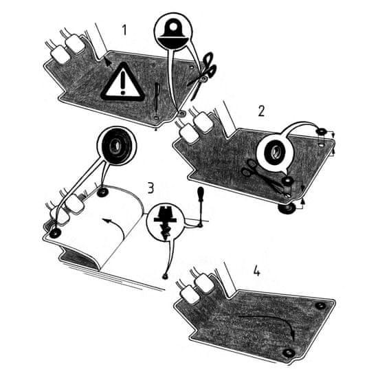 REZAW-PLAST Gumové autokoberce Audi Q2 2016-