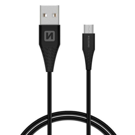 SWISSTEN Dátový kábel SWISSTEN USB / MICRO USB 1,5 M BIELY (9mm) 71504303
