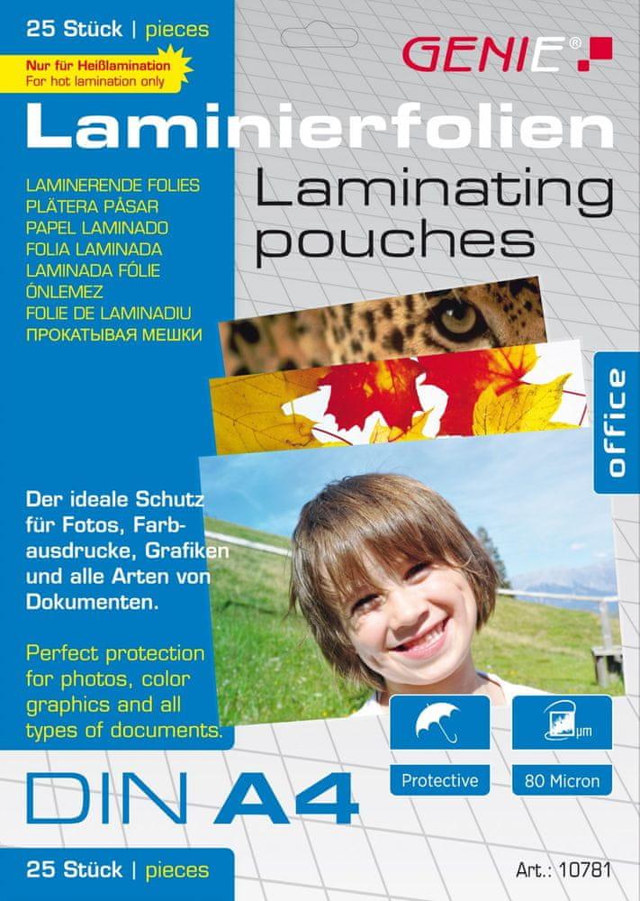 Genie Laminovací fólie A4 80 mic. 25 ks