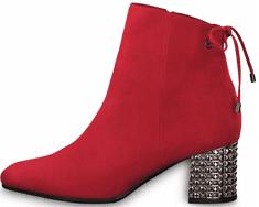 Tamaris dámská kotníčková obuv 25318 37 červená