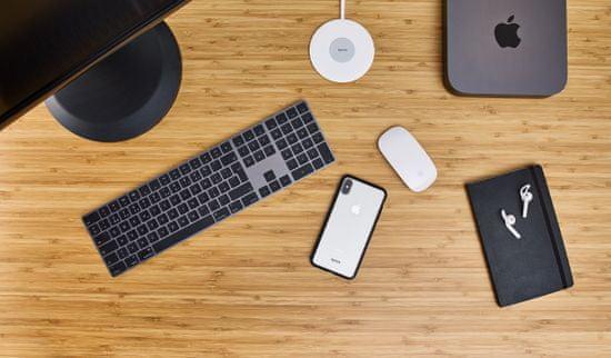 EPICO Slim Wireless Pad bežični punjač, 10 W/7,5 W/5 W, bijeli