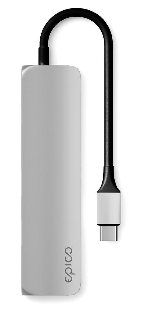 EPICO USB-C Hub - stříbrný 9915112100008