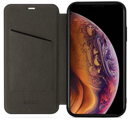 EPICO ovitek Flip Case with Magnetic Closure za iPhone XS, rjav