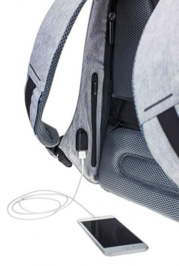 """XD Design Městský bezpečnostní batoh Bobby Compact, 14"""", pastelově modrý P705.530"""