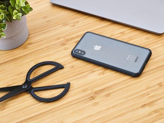 EPICO Glass Case ovitek za iPhone XS Max, transparenten, črn