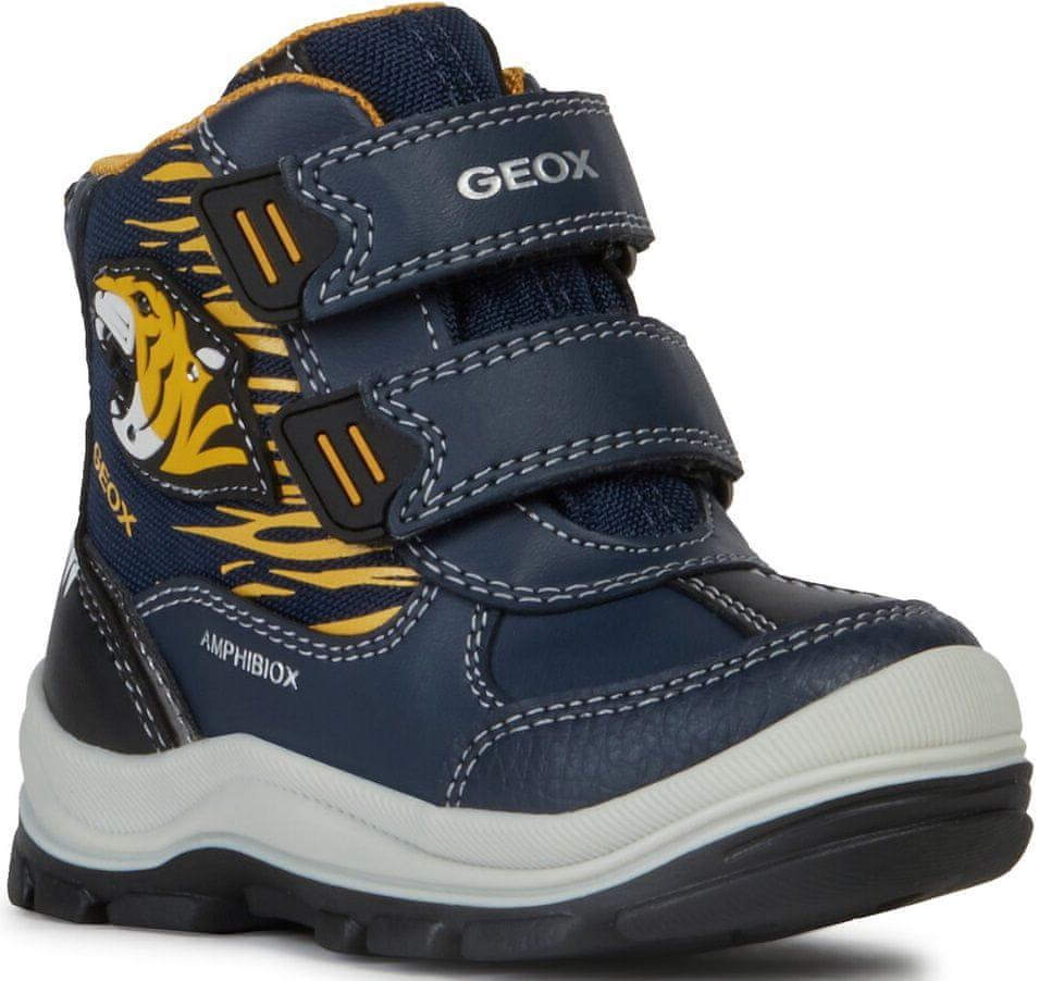 Geox chlapecké svítící zimní boty Flanfil 22 tmavě modrá