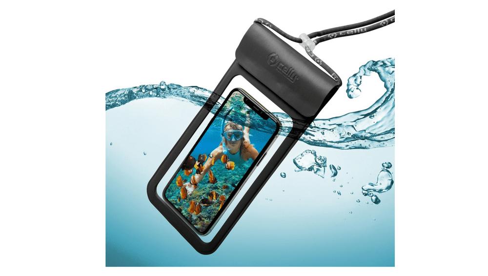 """Celly Univerzální voděodolné pouzdro CELLY Splash Bag 2019 pro telefony 6,5"""", modré SPLASHBAG19LB"""