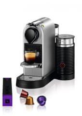 Nespresso kávovar na kapsle Krups Citiz & Milk Stříbrný XN761B10
