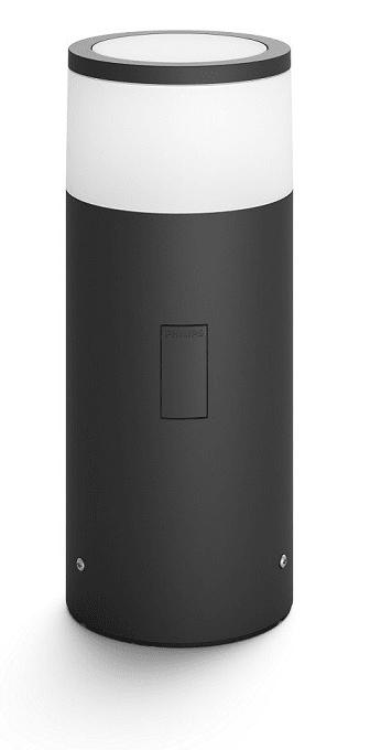 Philips Hue Calla 17423/30/P7 VENKOVNÍ SLOUPEK LED 8W 640lm 2200-6500K IP44, černá + adaptér