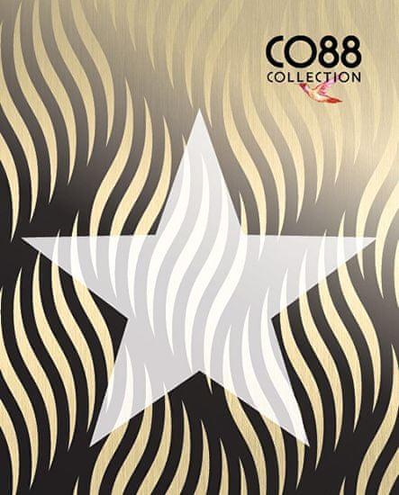 CO88 Črna zapestnica z zvezdami 860-180-090063-0000