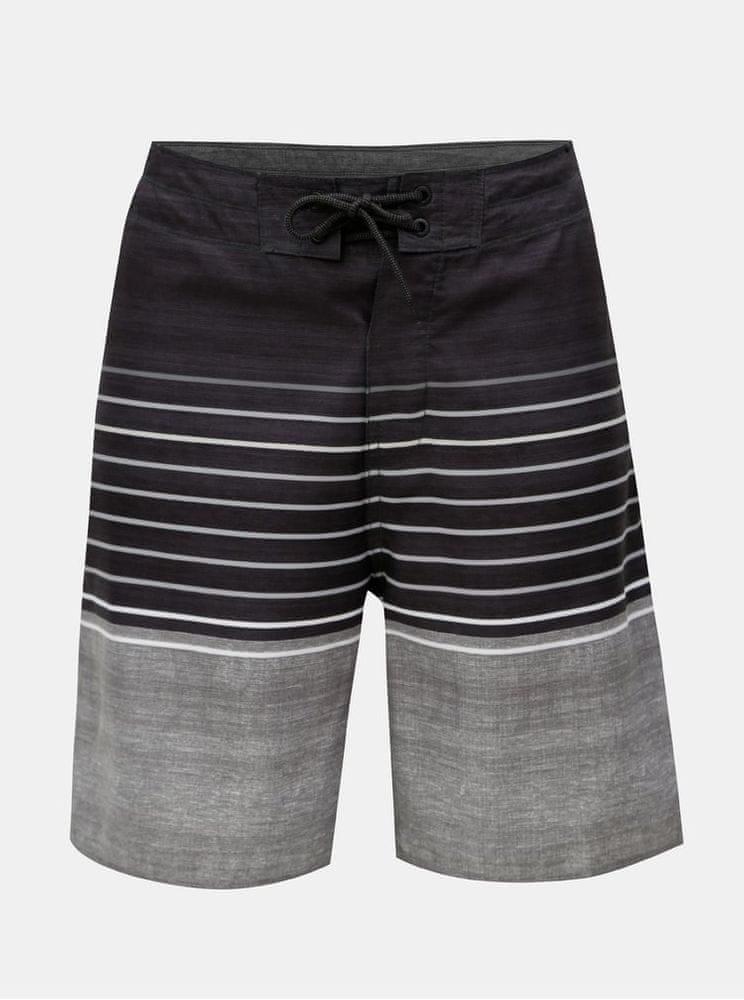 Rip Curl tmavě šedé pánské pruhované plavky S