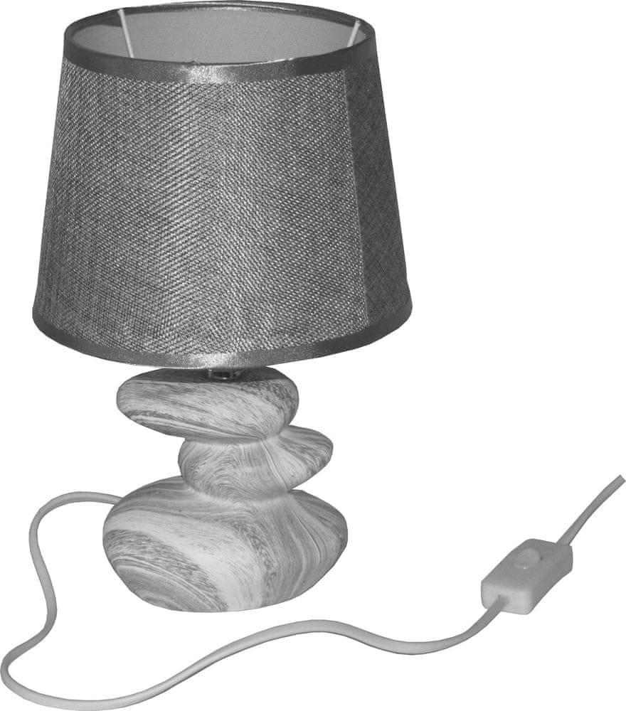 DUE ESSE Stolní lampa efekt mramoru 28 cm, tmavší