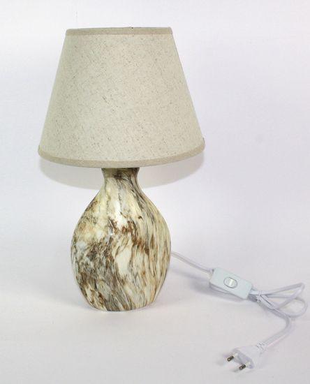 DUE ESSE Stolní lampa efekt kámen 38 cm