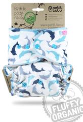 Petit Lulu pieluchomajtki na guziki Delfiny