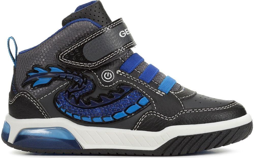 Geox chlapčenské svietiace tenisky Inek 27 čierna / modrá