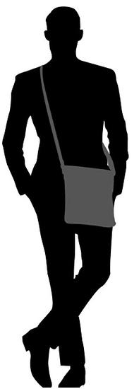 Bugatti Moška križna torba Corso 49390101 črna