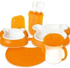 DBB Remond zestaw obiadowy Niedźwiadek pomarańczowy
