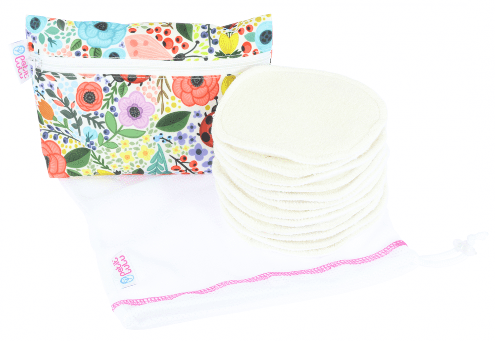 Petit Lulu Sada: vložky do podprsenky 6 párů+pytlík na praní a taštička