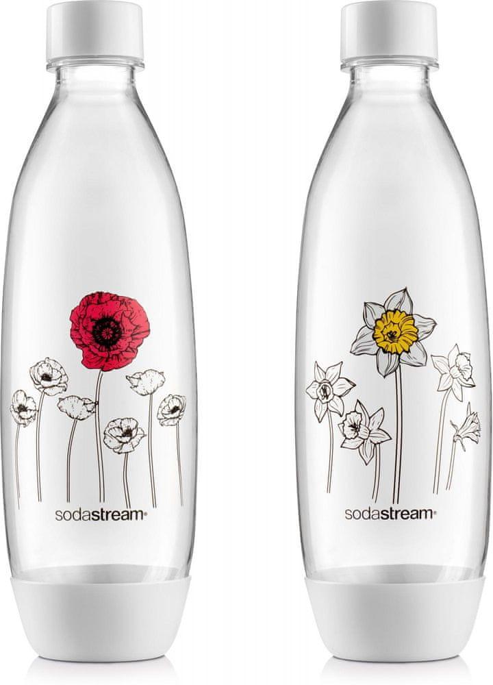 SodaStream Lahev FUSE 2 x 1 l Květiny v zimě