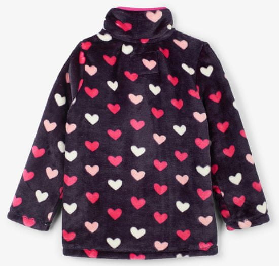Hatley dekliška flis jopica s srčki