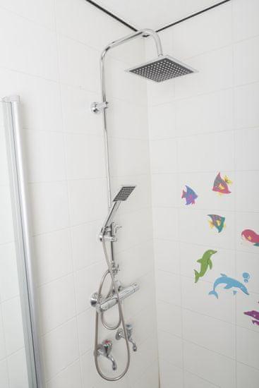 TimeLife Zuhanyzó készlet 150+50 cm tömlő, a fej átmérője 22x22 cm