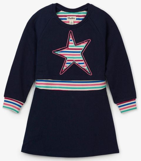 Hatley dívčí šaty s hvězdičkou