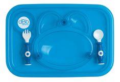 DBB Remond taca na posiłki z łyżką i widelcem niebieska