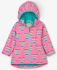 Hatley nepromočiva jakna za djevojčice sa srcima, roza, 98