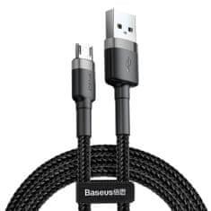 BASEUS Cafule datový kabel Micro USB, 1m, šedo-černá CAMKLF-BG1