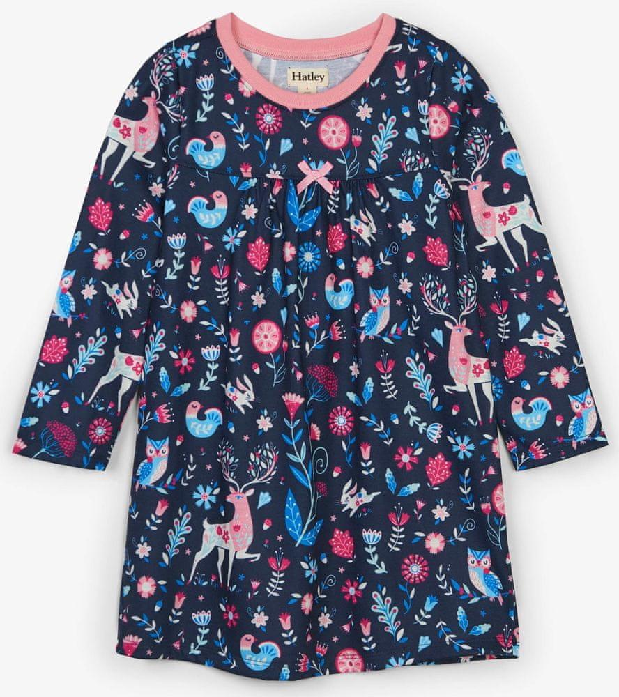 Hatley dívčí noční košile s lesním vzorem 92 vícebarevná