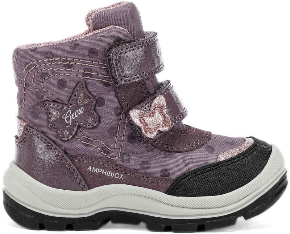 Geox dívčí svítící zimní boty Flanfil 21 fialová