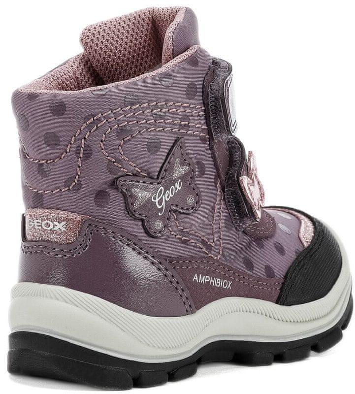 Geox dívčí svítící zimní boty Flanfil 22 fialová