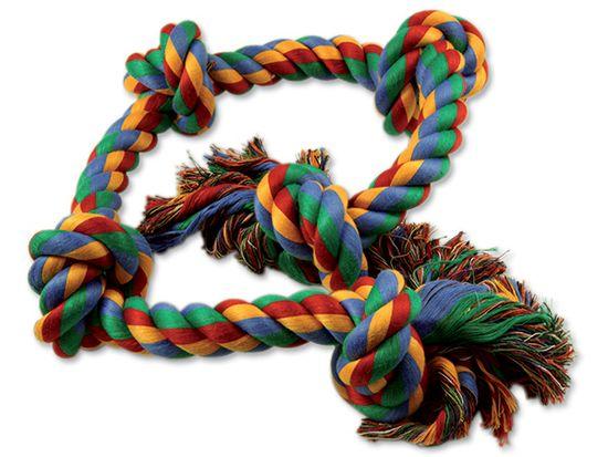 Dog Fantasy igralna vrv za pse, s 5 vozli, bombažna, pisana, 95 cm