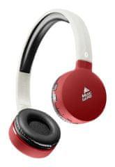 CellularLine BT Music Sound, brezžične Bluetooth slušalke z mikrofonom, rdeče