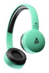 CellularLine BT Music Sound, brezžične Bluetooth slušalke z mikrofonom, zelene