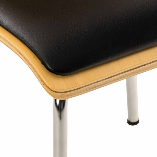 BHM Germany Preglejková jedálenská stolička Pepino, buk/čierna
