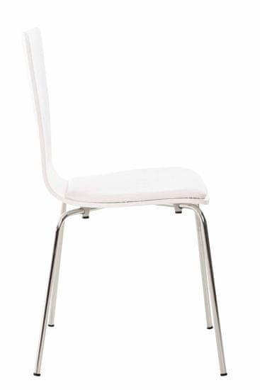 BHM Germany Preglejková jedálenská stolička Jacob, biela/biela