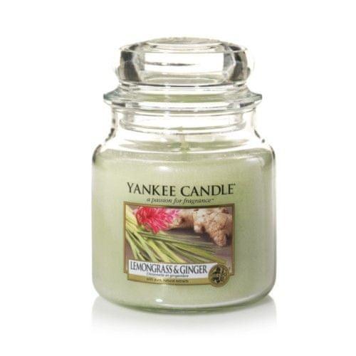 Yankee Candle Vonná svíčka Classic střední Citrónová tráva a zázvor (Lemongrass & Ginger) 411 g