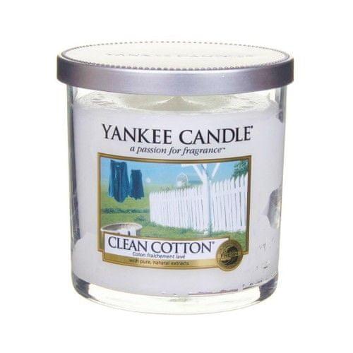 Yankee Candle Vonná svíčka Décor malý Čistá bavlna (Clean Cotton) 198 g