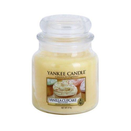 Yankee Candle Vonná svíčka Classic střední Vanilkový košíček (Vanilla Cupcake) 411 g