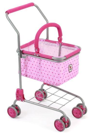 Bayer Chic otroški nakupovalni voziček/košara, roza s pikami