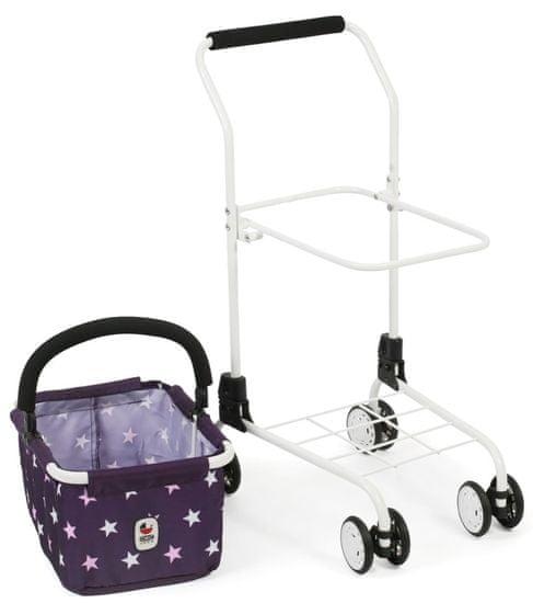 Bayer Chic otroški nakupovalni voziček/košara, vijolična z zvezdami