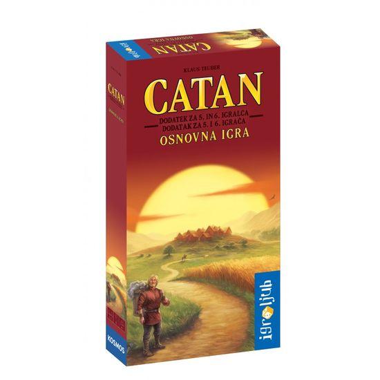 Igroljub družabna igra Catan - dodatek za 5. in 6. igralca